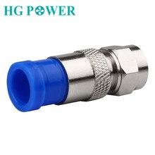 10pcs Conector RG6 Coaxial Connectors Waterproof Coax Cable Coaxial Connection F Compression RG6 Connector Compression Tool Blue цена