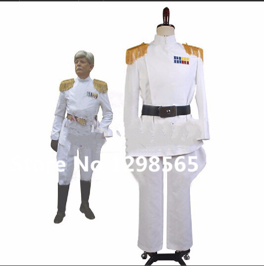 Star Wars Imperial Officer White Grand Admiral Army Uniform Jackets Pants Movie Halloween Cosplay Costume Custom Made