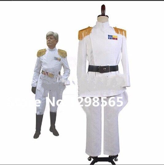 Star Wars Imperial Officer Blanc Grand Amiral Armée Uniforme Vestes Pantalon Film Halloween Cosplay Costume Fait Sur Commande
