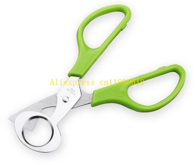 100pcs/lot fast shipping New arrival Quail Egg Scissors Cracker Opener Cigar Cutter Stainless Steel Blade Tool