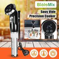 Bolomix Vacuum Slow Sous Vide Cooker 1500W Powerful 15L Immersion Circulator Machine LCD Digital Timer Stainless Steel