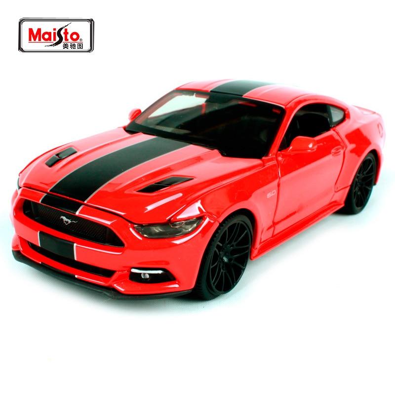 Maisto 1:24 2015 Ford Mustang GT Sodobni mišični odrezki Model avtomobilskih igrač Novo v škatli Brezplačna dostava 31369