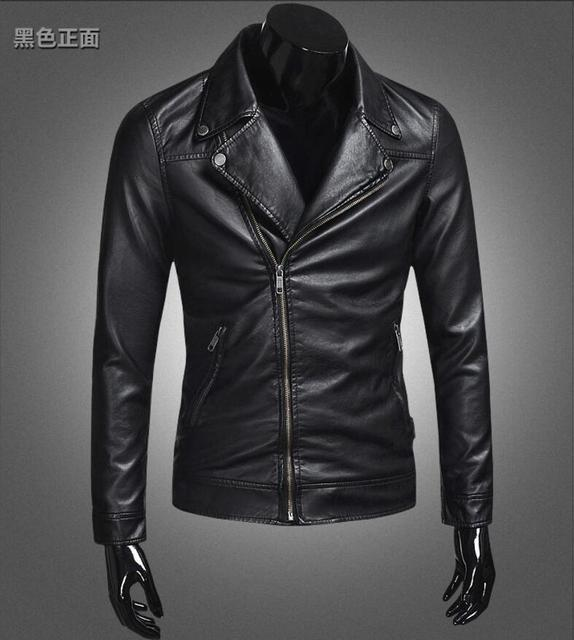 Hot 2019 New Men's Clothes Classic Style Motorcycling PU Leather Jackets Men Slim Coats Male Motor Jacket Business coat M-4XL