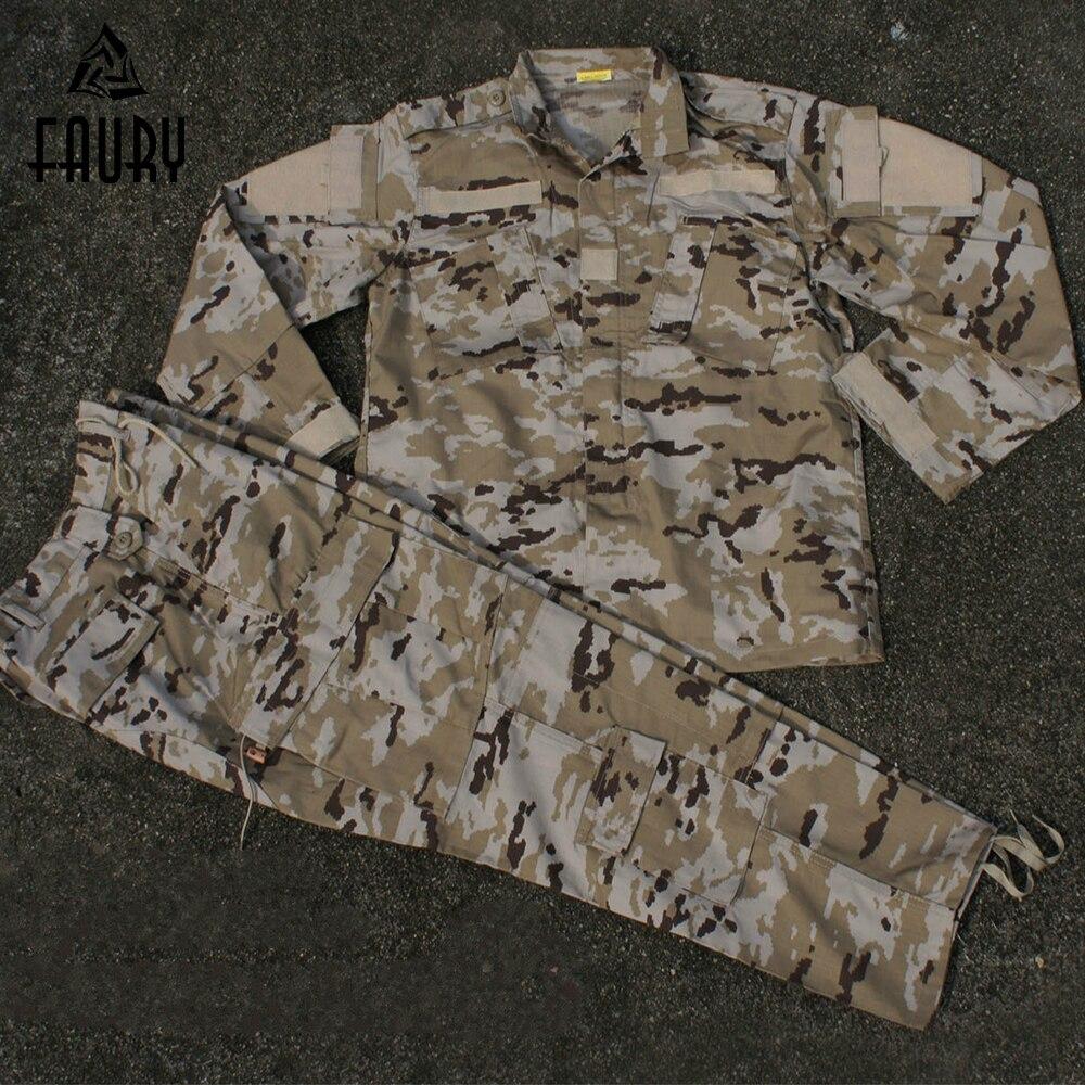 Armée US désert tactique militaire Camouflage Combat uniforme Airsoft Camo BDU hommes vêtements ensemble de chasse en plein air costumes de haute qualité