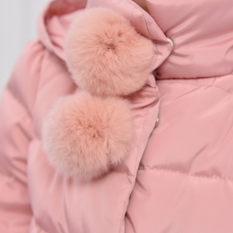 2018 Kalter Winter Warme Dicke Baby Kind Mädchen Kinder Hoody Lange - Kinderkleidung - Foto 5