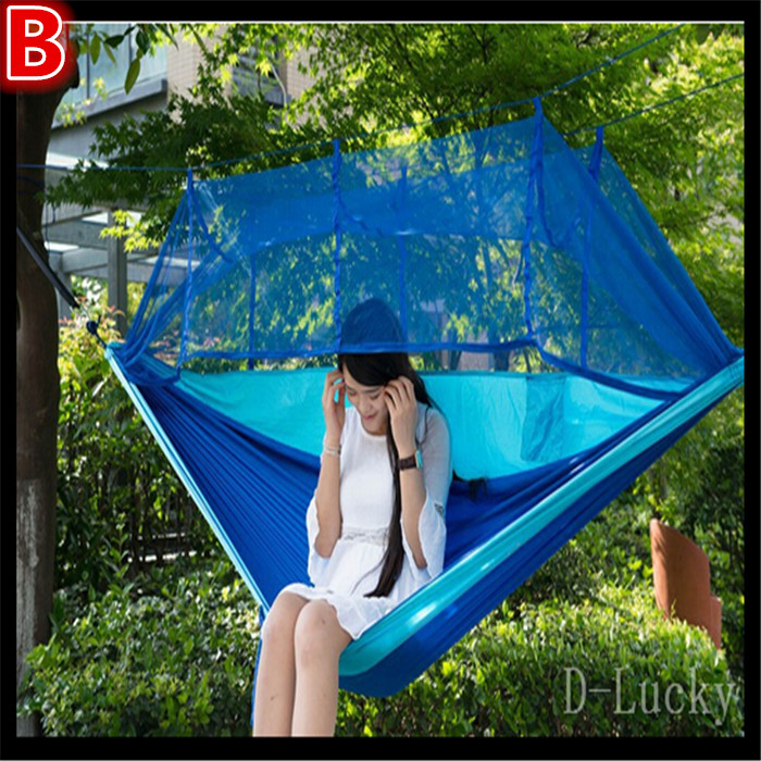ФОТО Free shipping Camping Hammock Survival Hammock Parachute Cloth Portable lightweight Double Hammock outdoor hangmat hanging bed