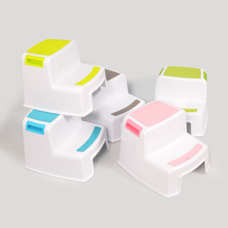 Children's Plastic Stool Baby's Small Stools Bathroom Stool Ladder Stool Footstool  Kids Furniture Bathroom Skid Proof