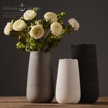 цена на ceramic cerative brush finish flowers vase pot home decor crafts room weeding decorations handicraft porcelain figurines