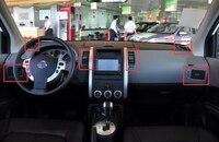 6 אביזרי רכב מאט יח'\סט ABS קדמי אוויר Vent כיסוי מסגרת Trim לניסן Xtrail x-trail 2008 2009 2010 2011 2012 2013
