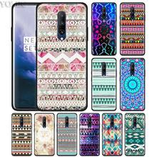 Geometry art Triangle Tribal aztec Phone Case for Oneplus 7 7Pro 6 6T Oneplus 7 Pro 6T Black Silicone Soft Case Cover