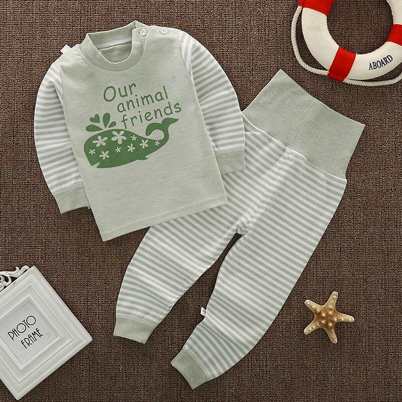 Os recém-nascidos Do Bebê pijamas set Criança