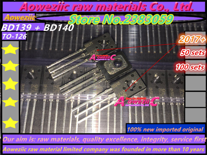 Aoweziic 100% new imported original BD139 BD140 TO-126 transistor (1 sets)