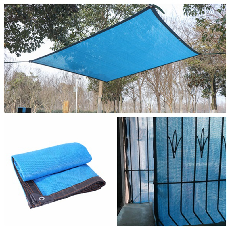 Tewango Blue Anti-UV HDPE Sunshade Net Outdoor Garden Sunscreen Shade Cloth Plant Cover Greenhouse Net Swimming Pool Shading Net