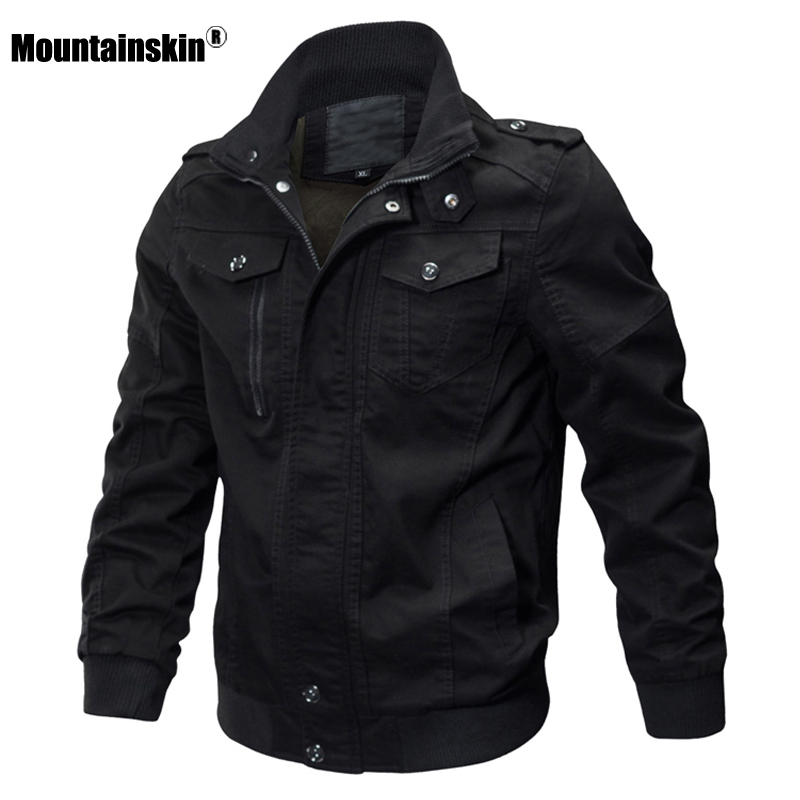 Mountainskin 2020 Autumn Spring New Men's Jackets Military Solid Casual Coats Fashion Slim Fit Male Brand Clothing 6XL SA731 1