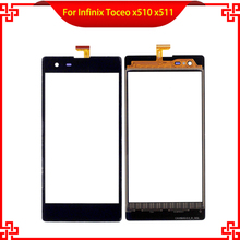Original Touch Screen Digitizer For Infinix Toceo x510 x511 High Quality Mobile Phone Touch Panel  new original touch scr een pv037 lsk pl037 lsk high quality