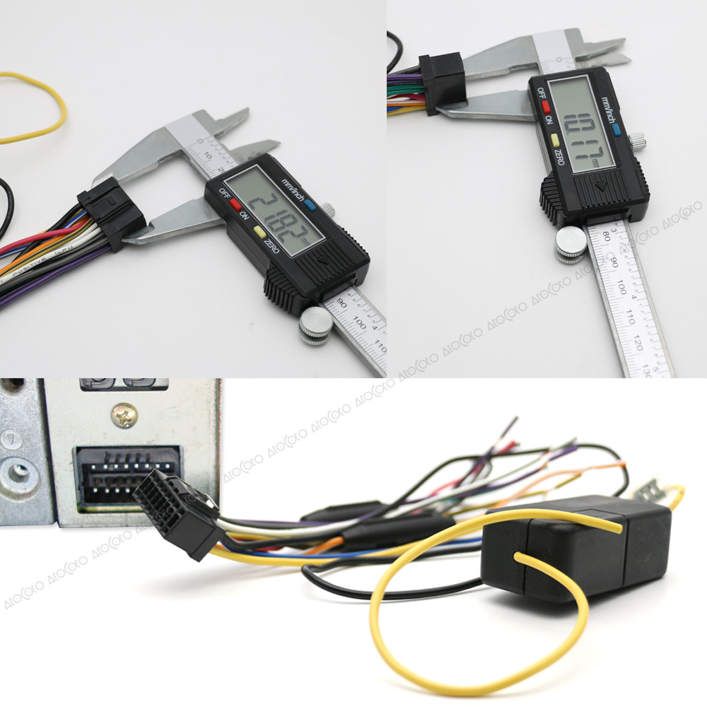 Atocoto Car Power Stereo Radio Wire Harness With Fuse Cable E46 To Pioneer Connector Adapter For Deh P8600mp P8450mp P860mp P960mp In Cables Adapters Sockets