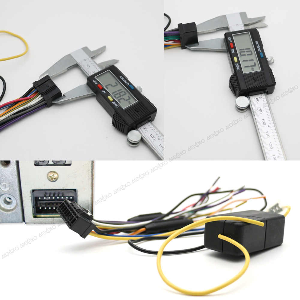 atocoto car power stereo radio wire harness with fuse cable connector  adapter for pioneer deh-