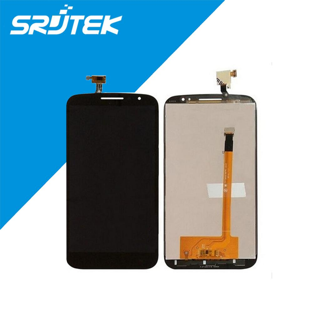 Black/White For Alcatel One Touch Pop S9 OT7050 7050 LCD Display Touch Screen Digitizer Replacement Parts Free Shipping alcatel ot 4035d pop d3 dual black fashion blue