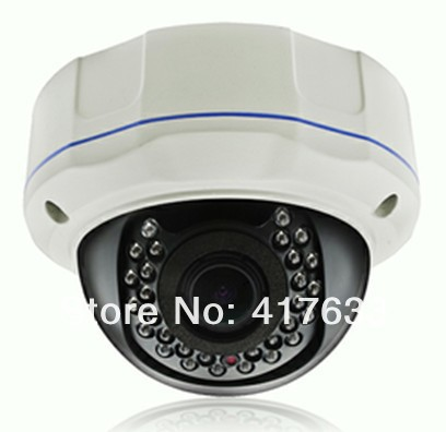 ФОТО 2.0MP IP Camera steel case 35pcs led  Varifocal Lens 1080P CCTV video system IR dome camera indoor night vision network camera