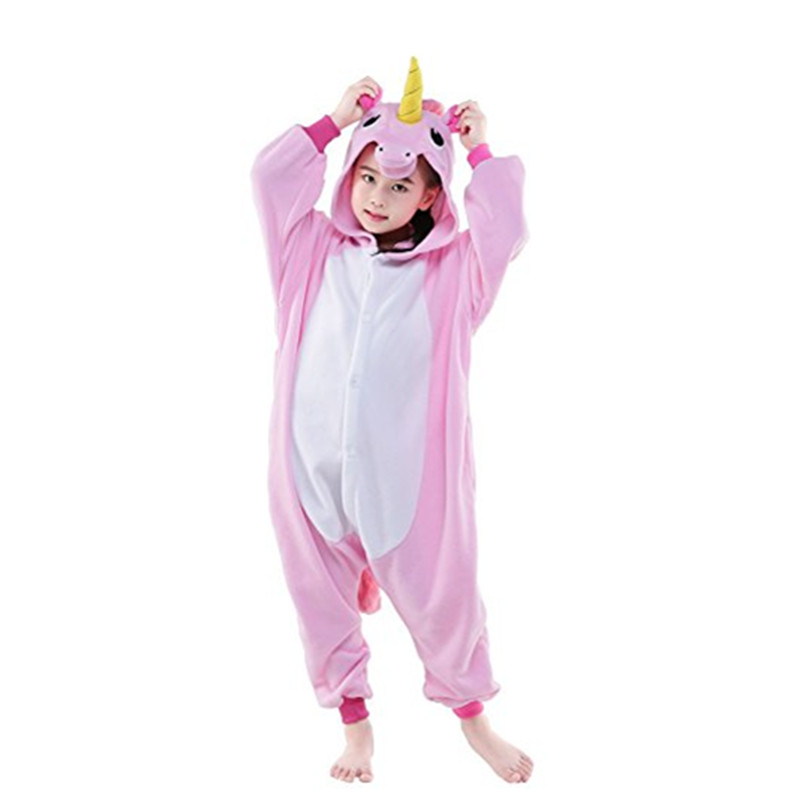 Winter Halloween Cosplay Children Unisex Horse Animal Onesie Pajamas Costume