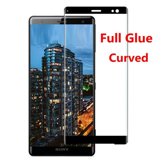 Full Glue Full Cover Curved Tempered Glass For Sony Xperia XZ3 Screen Protector protective film For Sony Xperia XZ3 glass