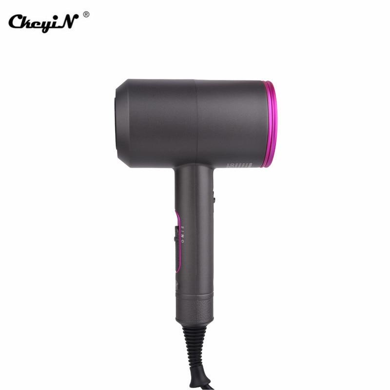 Secador de cabelo poderoso dobrável, secador de