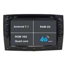 2 г Оперативная память Android 7.1 dvd-плеер автомобиля GPS навигации Системы для автомобиля GPS DVD навигации для Renault Megane 2003 2004 2005 2006 2007