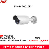 In Stock Hik English Security Camera DS 2CD2020F I 2MP CCTV Camera IP Camera POE Bullet
