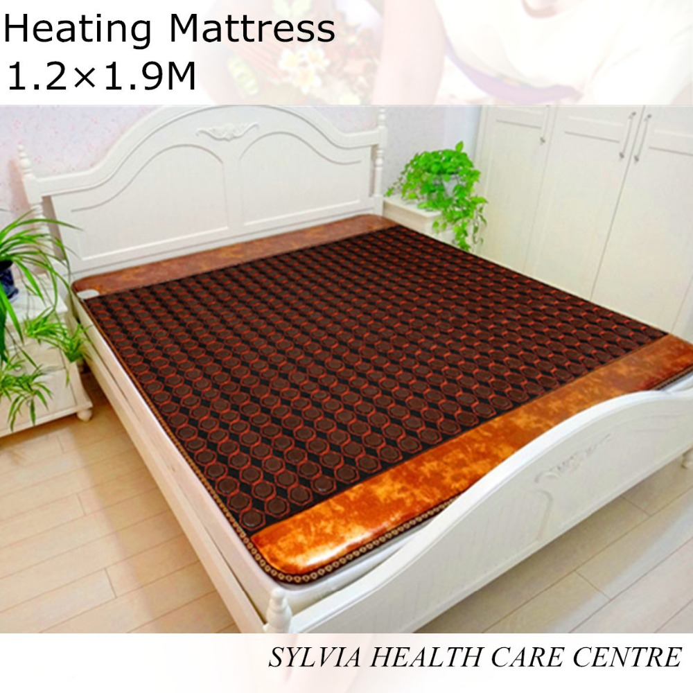 Free shipping Tourmaline Stone germanium health mattress Far Infrared Heated Bed Mattress 1.2*1.9M pop relax tourmaline health products prostate massager for men pain relief 3 balls germanium stone far infrared therapy heater