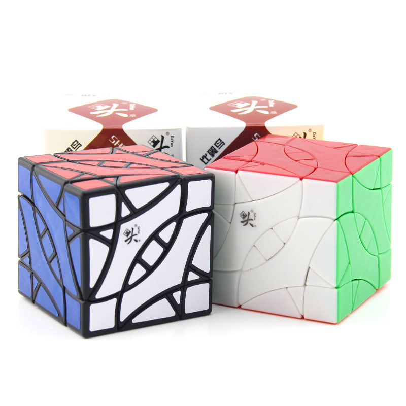 DaYan Perruche BiYiNiao 12-axe 3-rang Magie Cube Noir Stickerless Étrange Forme Cube Jouets Pour Enfants