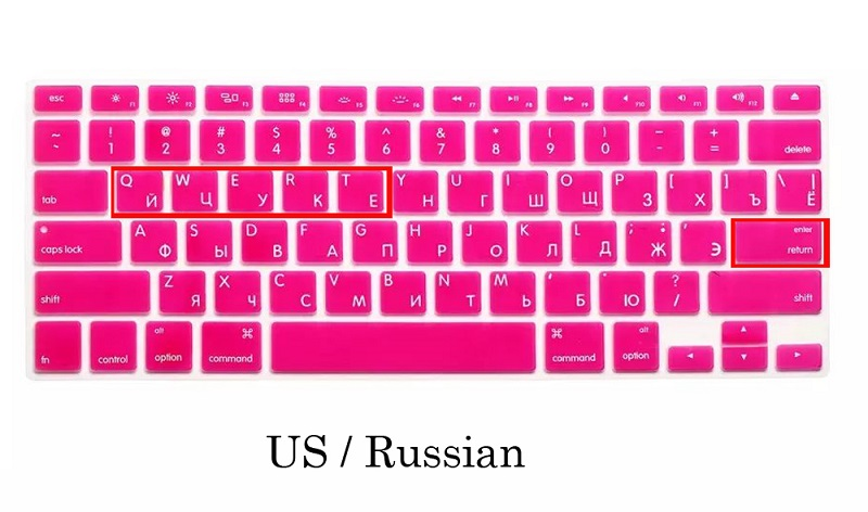 EU US Soft Silicon For Macbook A1466 Keyboard Cover Russian Language Cover For Macbook Retina13 Keyboard Cover (8)