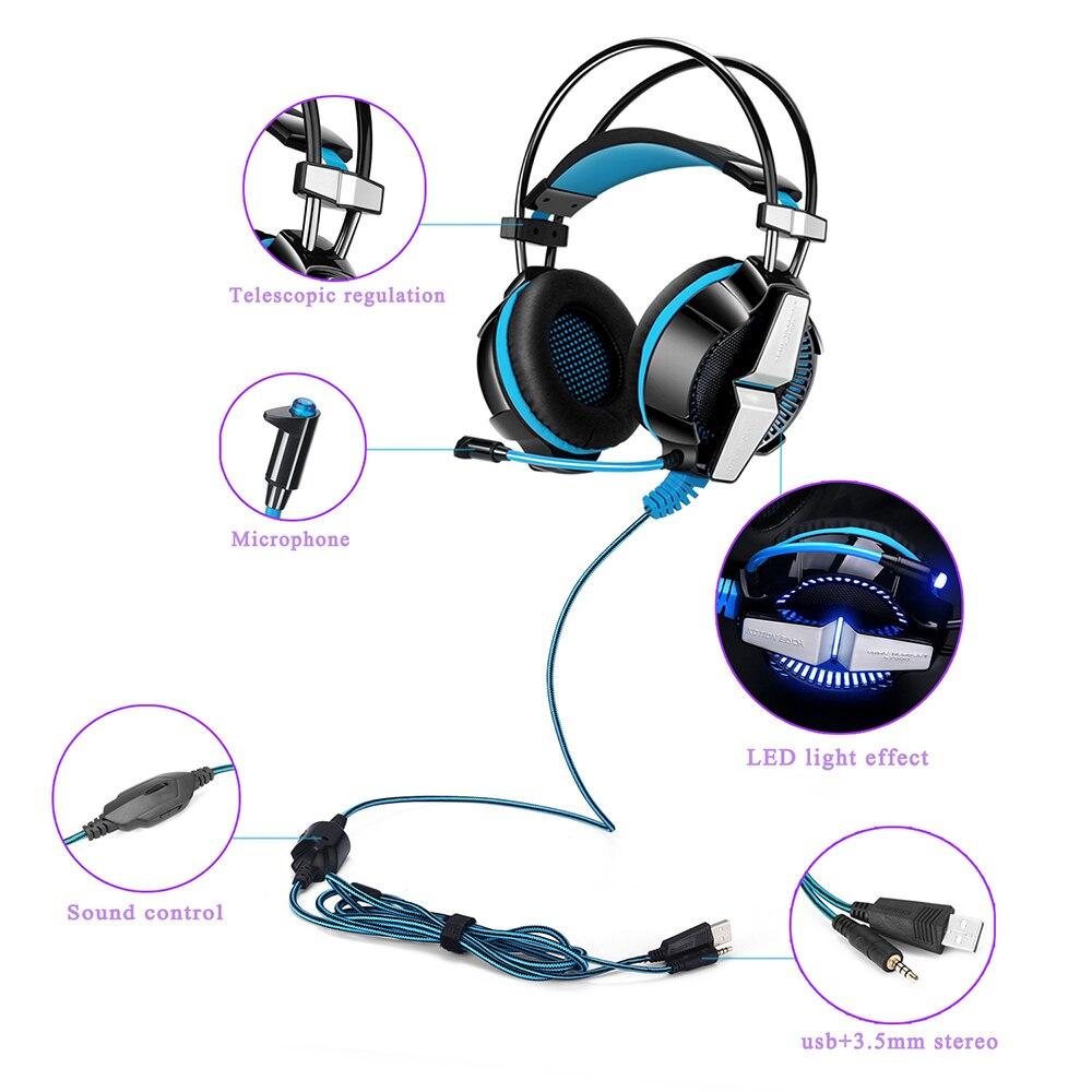 KOTION каждый GS700 наушники Игровые наушники для компьютера стерео наушники для телефона 3,5 мм Проводная гарнитура с микрофоном