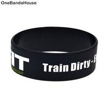 OneBandaHouse 1 шт. 1 дюйм браслет слоган силиконовый браслет 24 часа подходит поезд грязный есть чистый отдых Fit