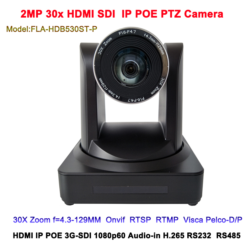 New HDMI SDI IP POE 30x Zoom Camera View Angle Of 65.1 Degree Professional Video PTZ Conferencing Equipment