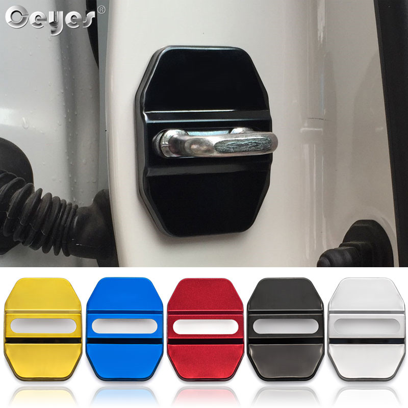 Ceyes Car Styling Door Lock Protective Cover Auto Accessories Case For Mercedes Benz E B C M ML SLK GLK W205 W166 W203 W204 W245