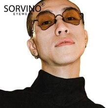 SORVINO Vintage Polygon Shape Mens Sunglasses Women Brand De