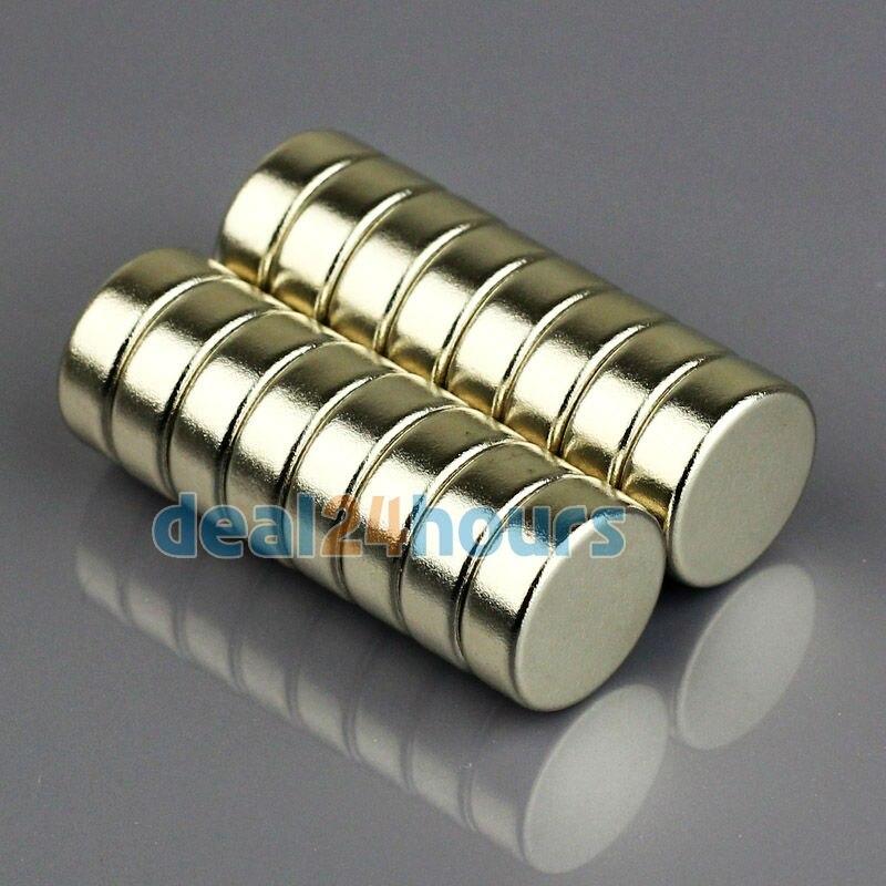 OMO Magnetics Lots 10pcs Super Strong Round Magnets 15mm x 4mm Disc Fridge Rare Earth Neodymium N35  Free Shipping