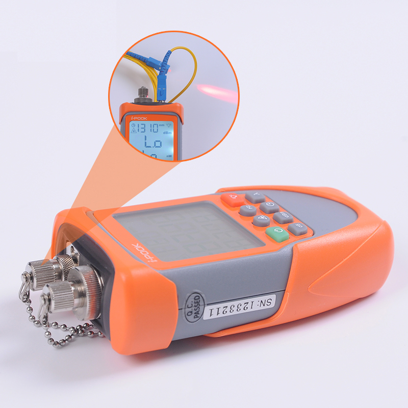 Fiber Optical Power Meter with FC SC ST Connector CATV 7 WaveLength Laser Source 5mw Visual Fault Locator Cable Tester FTTH a fault 7