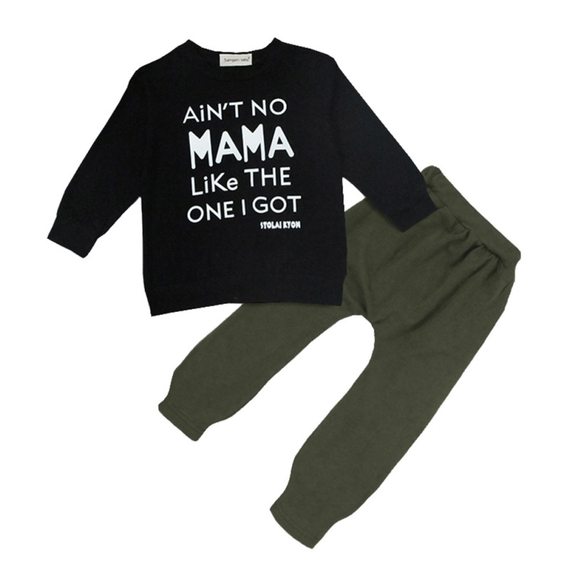 2018 New And Stylish Baby Sets With Long Sleeve Letter Print Comfortable For Dressing In Different Occasions