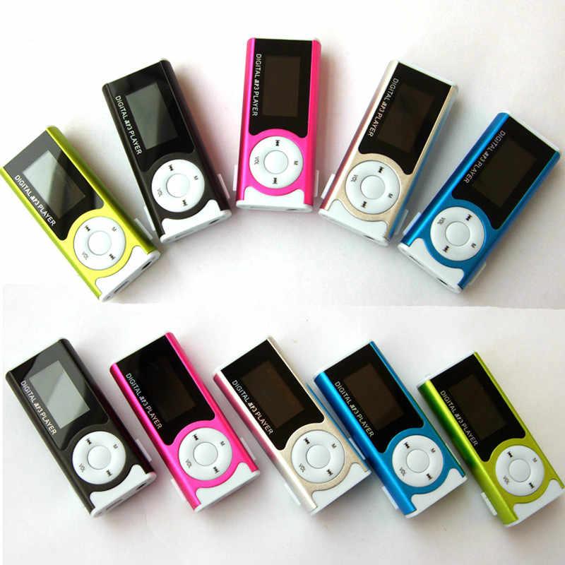 Nóng Bán! Sport MP3 Media Player Mới Mini Music Player Shiny Mini USB Clip Màn Hình LCD Hỗ Trợ 16 GB Micro SD Card MP3/WMA Jan6