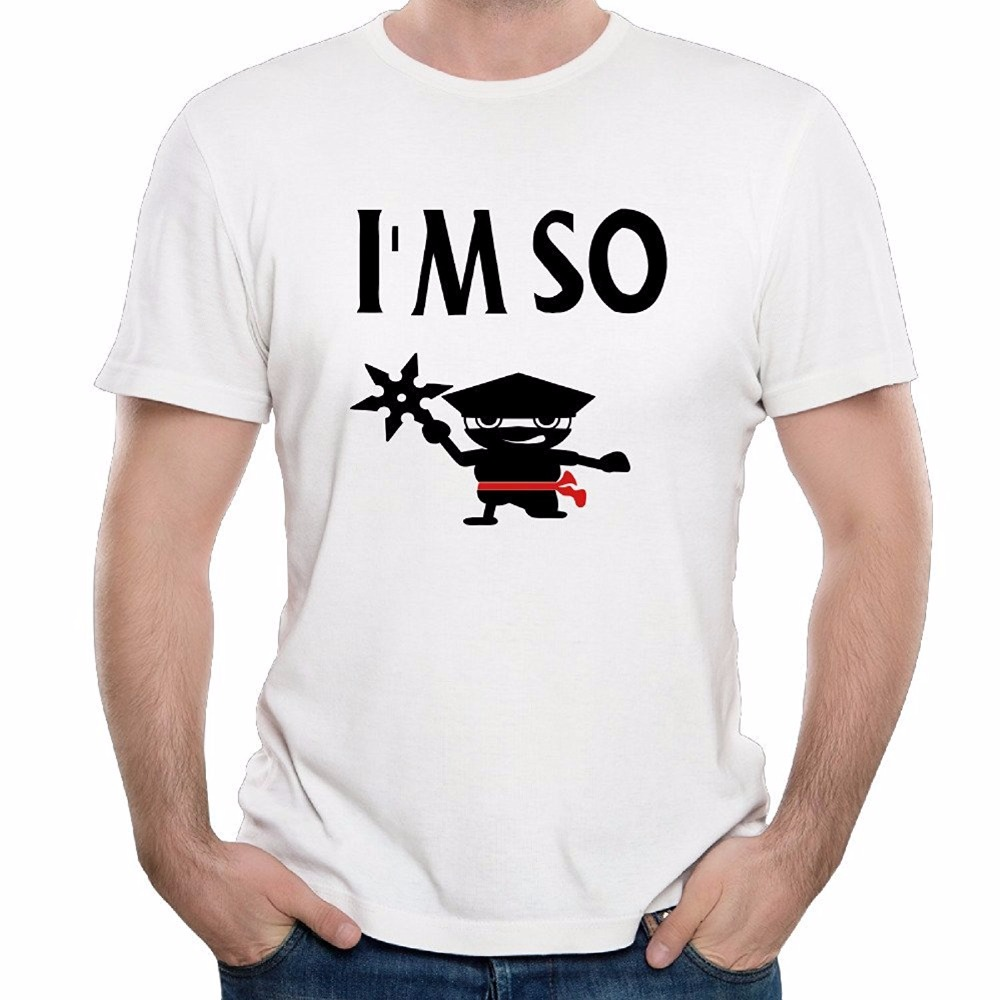 Summer New Style IM So Ninja Father Gifts Comfort T-shirts pure Cotton cool streetwear