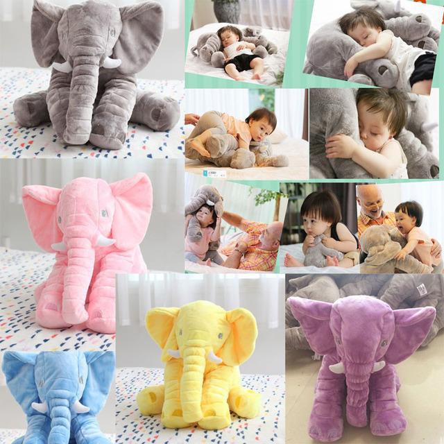 Elefante Travesseiro Crianças Travesseiro Sono do bebê Elefante Bonito Do Bebê Macia Bichos de pelúcia Boneca de Pelúcia Travesseiro Crianças Brinquedo de Natal Das Crianças