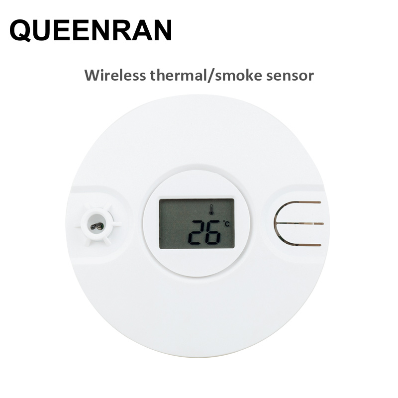 1/2/5pcs Wireless Thermal/Heat Detector Sensitive Fire Alarm Sensor For 433MHz/868MHz WIFI Network Alarm System ST-VGT, ST-IIIB