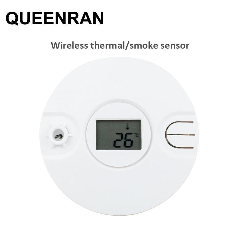 1/2/5pcs Wireless Thermal/Heat Detector Sensitive Fire Alarm Sensor for 433MHz/868MHz WIFI Network Alarm System ST-VGT, ST-IIIB