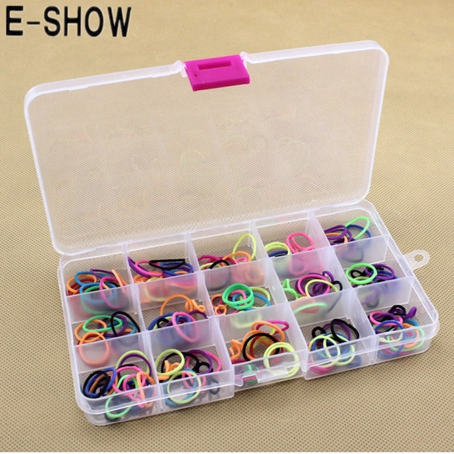 E Show 10 Slots Cross Jewelry Necklace Clear Box Case Adjule Pill Medicine Storage