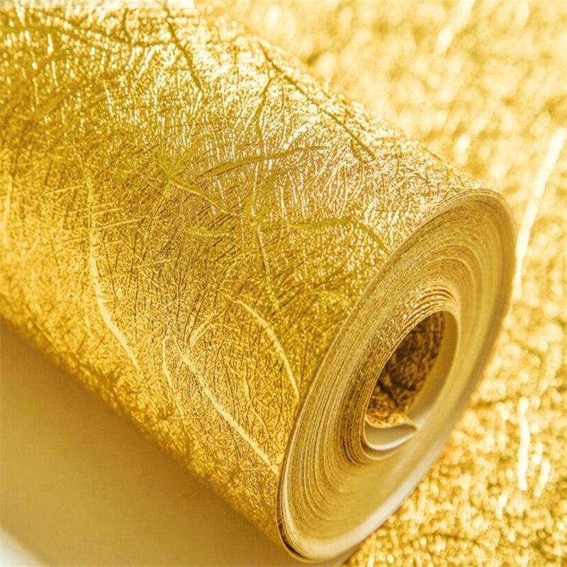 wellyu Thick gold silver waterproof KTV bar wallpaper upscale hotel tool TV background wall gold foil wallpaper