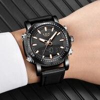 2019 新メンズ腕時計トップブランド LIGE 男性ファッションスポーツ男性の防水クォーツデジタル Led 時計メンズ軍事腕時計