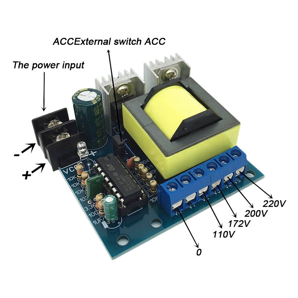 SUNYIMA DC-AC mikrofalownik 150W DC12V 24V do AC 110V 172V 200V 220V Booster DC do AC obwodami dla DIY jazdy noc obóz