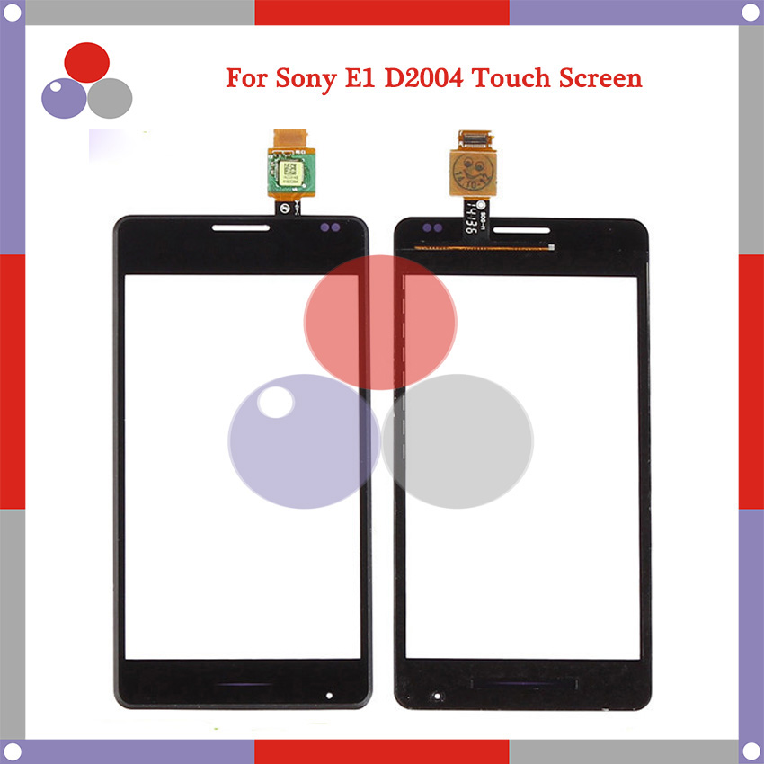 10pcs/lot High Quality For <font><b>Sony</b></font> <font><b>Xperia</b></font> <font><b>E1</b></font> D2004 <font><b>D2005</b></font> Touch Screen Panel Sensor Digitizer Outer Glass Lens image