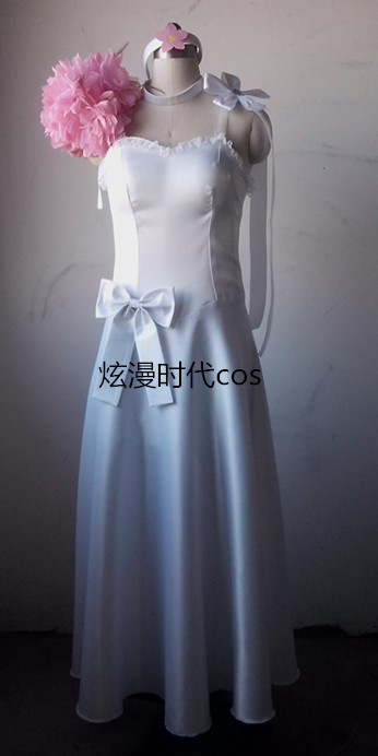 Anime Fairy Tail Elza Scarlet Dress Cosplay Costume